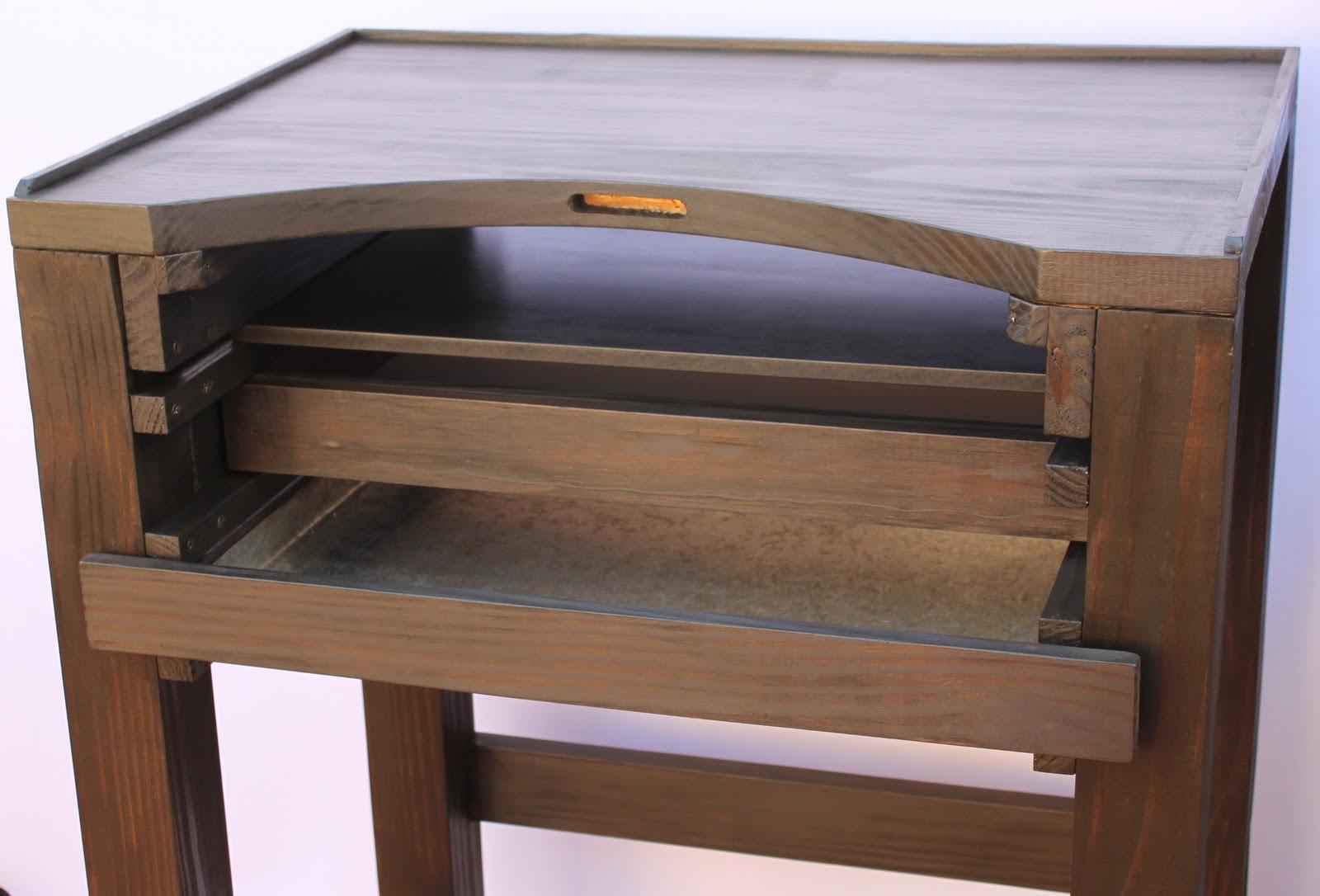 Muebles y bancos para joyeros en madera maciza for Muebles industriales