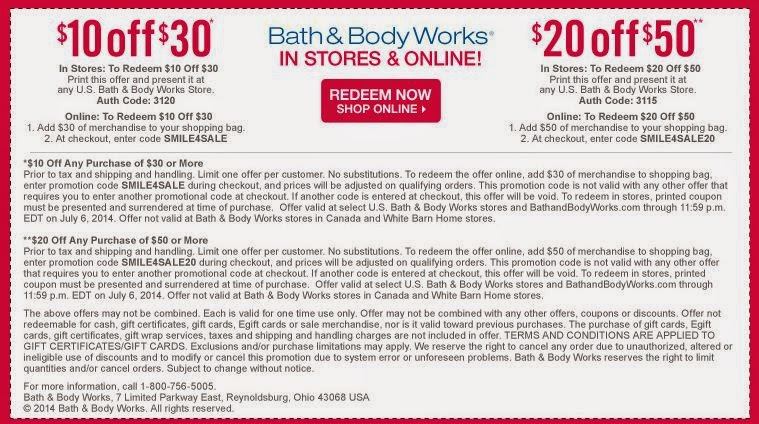 Bed and body works online coupons