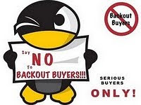 say NO to BACKOUT buyers.