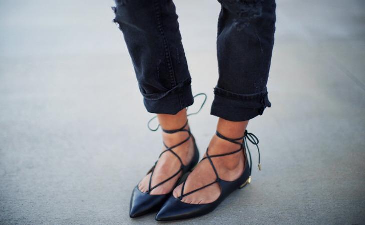 Fashion Attacks inspiration lace up ballerina