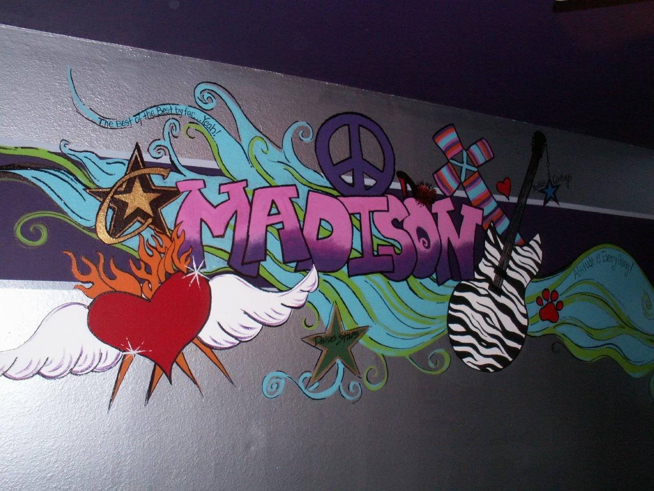Ashley williams graffiti murals in kids 39 rooms for Graffiti mural