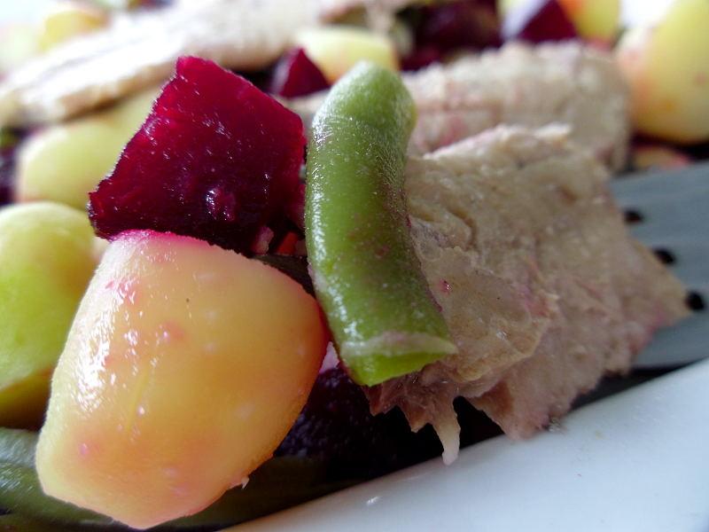 Gourmande ou passionn e salade de pommes de terre betteraves haricots verts et sardines - Quand semer les haricots verts en pleine terre ...