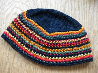 knitted hat pattern from Interweave Knits, found on Ravelry, slip stitch pattern