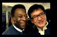 Pelé e Jackie Chan
