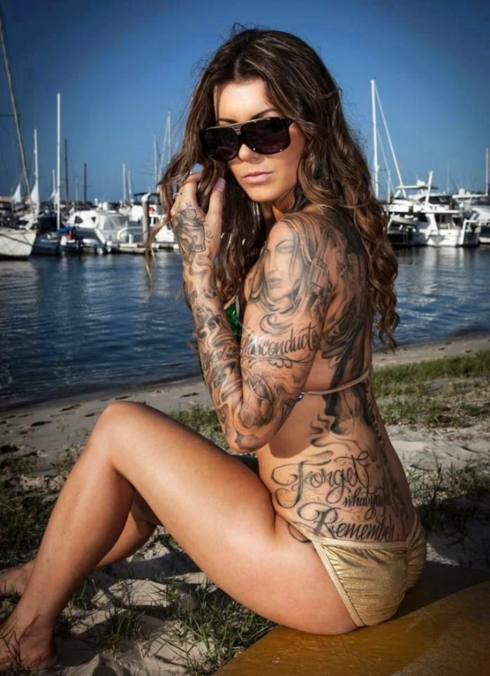 hot tattoo bikini girl