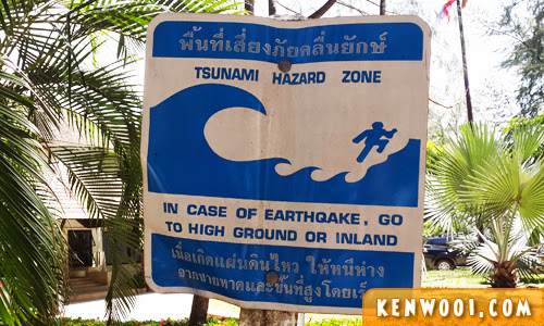 phuket tsunami hazard zone