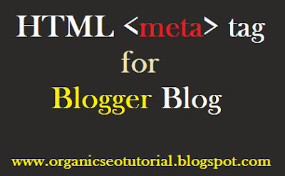 seo tutorial blogger html meta tag