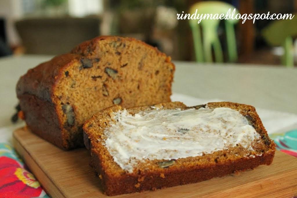 Rindy Mae: Pumpkin-Banana Bread