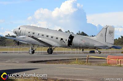 Venerable AC-47T Fantasma de la Fuerza Aérea Colombiana.