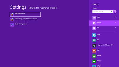 Cara Mengaktifkan Non-Aktifkan Windows 8 Firewall
