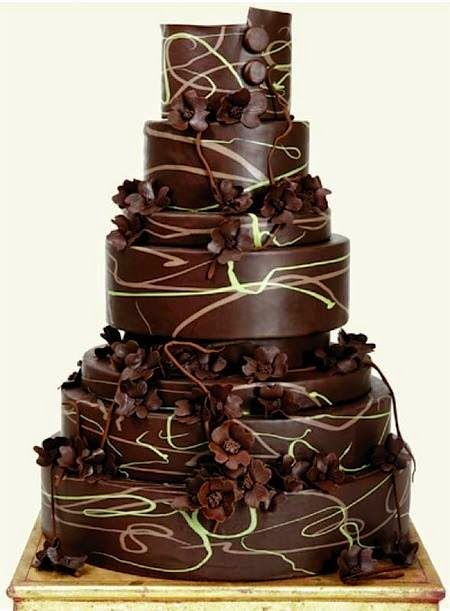 ladiesfashionsense-chocolate wedding cake