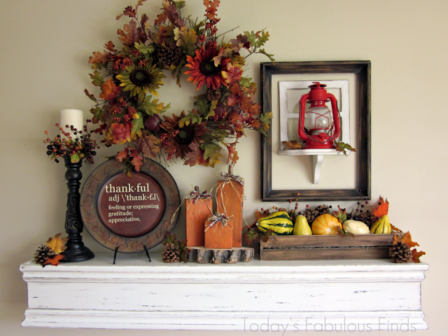 fall mantel, thanksgiving mantel