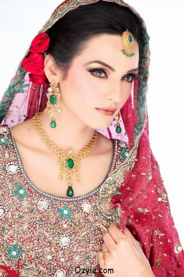 sadia hayat khan in bridal dresses beautiful pictures