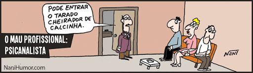 Tiras: O mau profissional. psicanalista