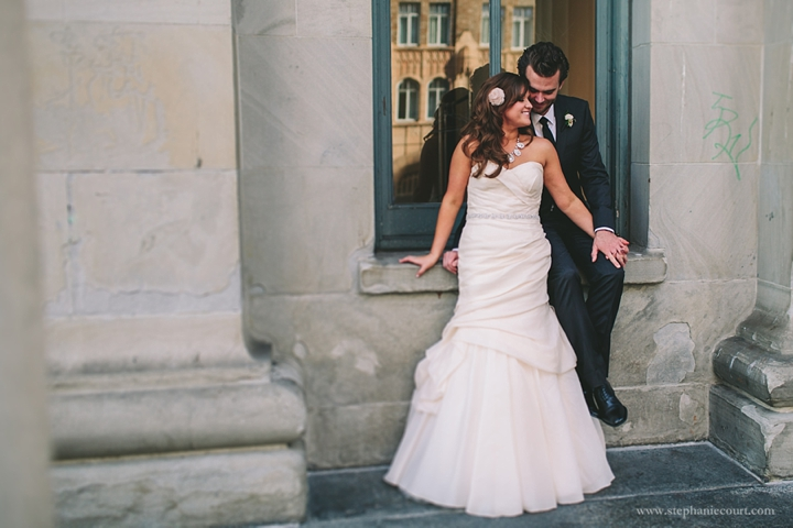 """""""bride and groom at old mint in san francisco"""""""