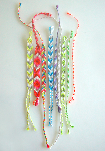 On the brightside friendship bracelets from purl bee