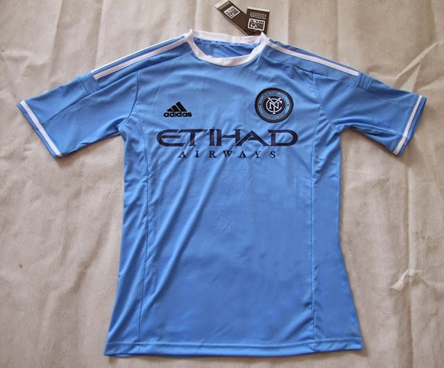 15-16 Season New York FC Home Blue Soccer Shirt In Thailand Quality