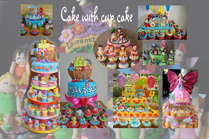 Cake dengan paduan cupcake