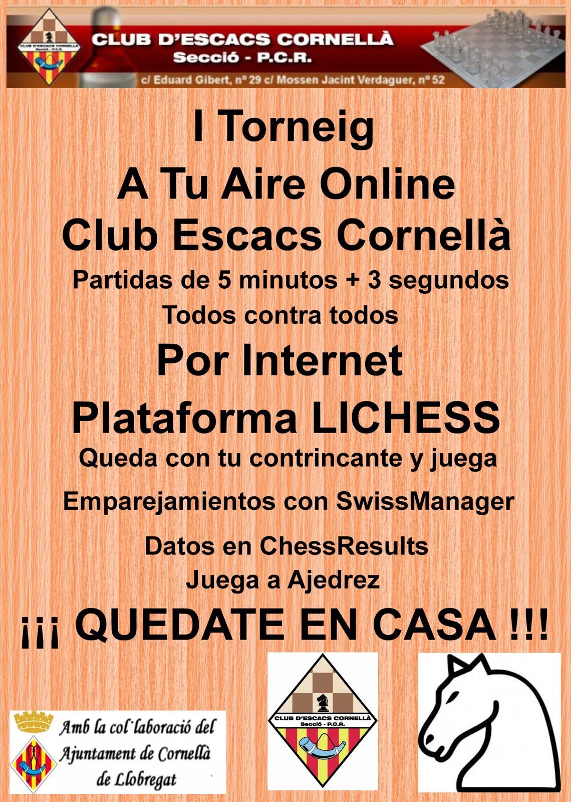 I Torneig A Tu Aire Online Cornella C.E.
