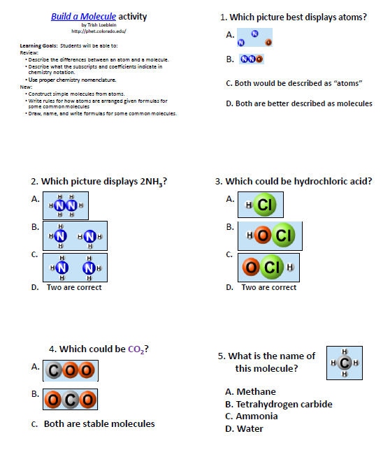 Atomic worksheet answers