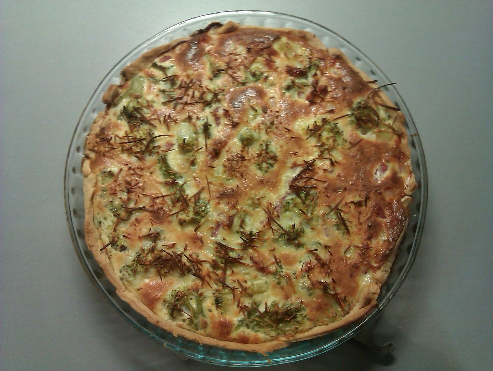 Quiche Brócoli y Bacón