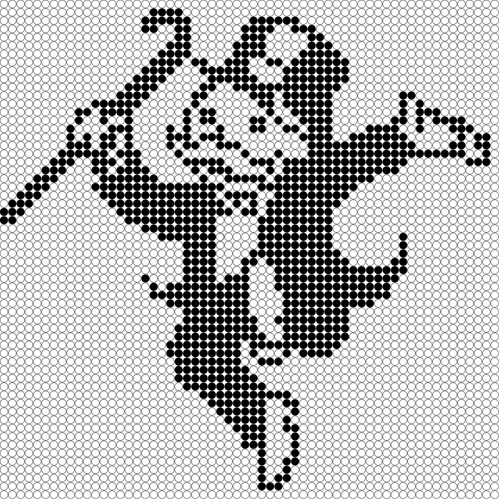 pixel art noir et blanc
