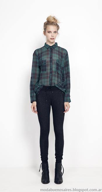Camisas a cuadros de mujer otoño invierno 2014.