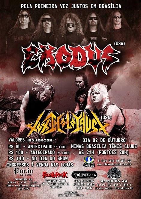 02-10-2014 - EXODUS e TOXIC HOLOCAUST - Brasília - DF