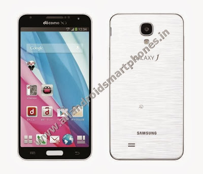 Samsung Galaxy J Android Phablet 5.0 inch Screen White Color Front Back Images Photos Review