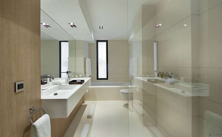 Small bathroom in Modern Bayview Villa In French Riviera
