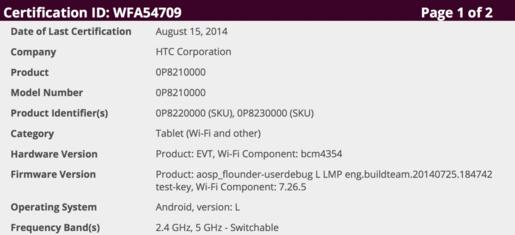 Lộ cấu hình có thể của Nexus 9