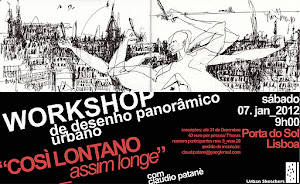 "WORKSHOP_Lisbon Panoramas: Sketching wide-angle scenes from far_""COSÌ LONTANO_assim longe"""