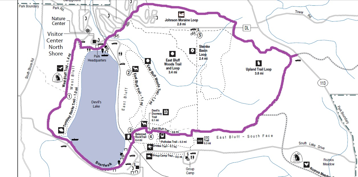 Devils Lake State Park Ice Age National Scenic Trail Come Along