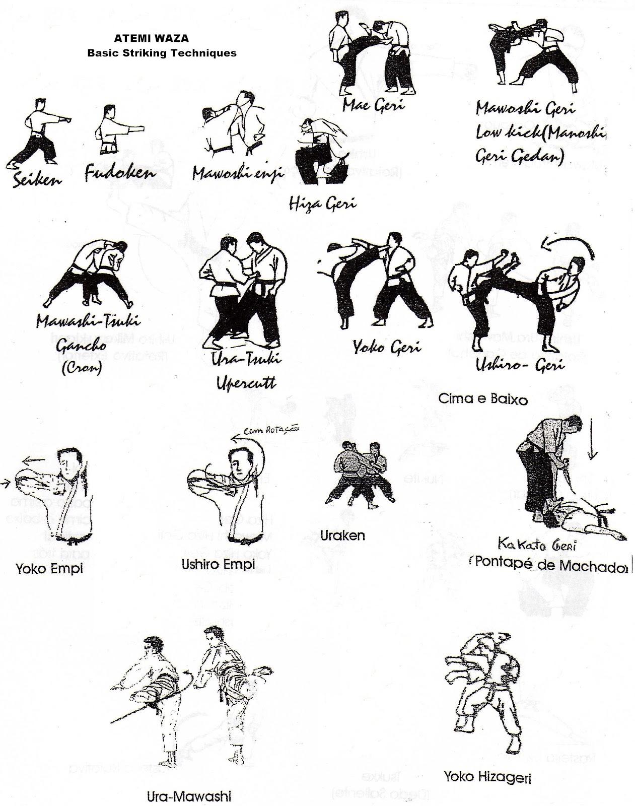 Karate techniques list