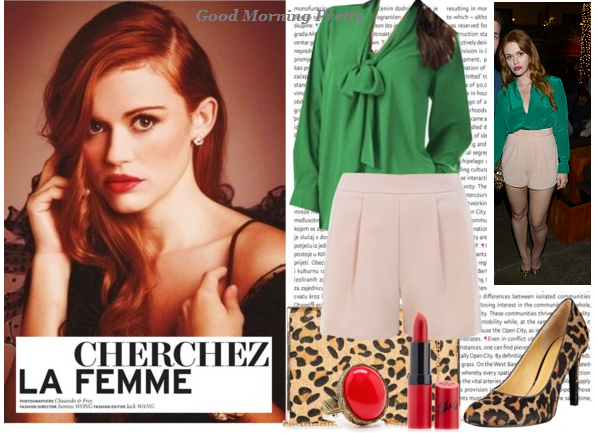 Holland Roden look Glamour