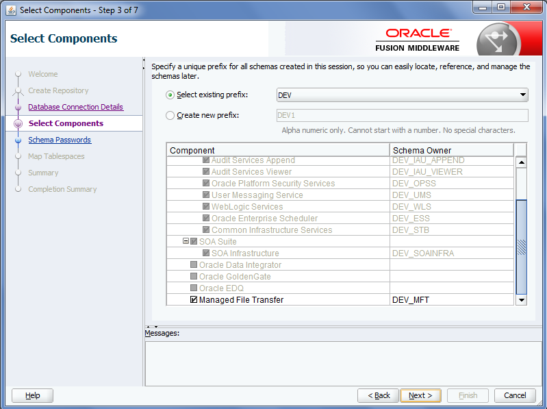Oracle MFT Schemas