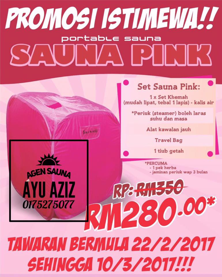 SAUNA PINK HARGA OFFER