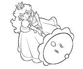 #15 Princess Peach Coloring Page