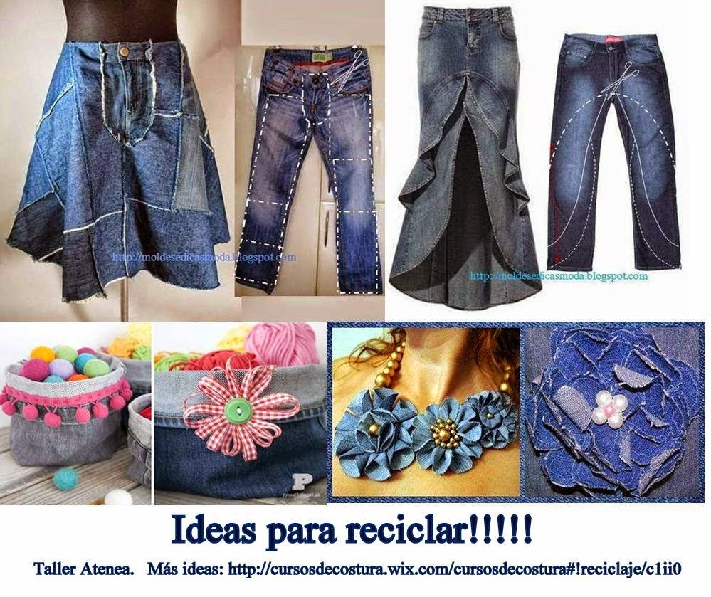 Cursos De Costura Taller Atenea Ideas Para Reciclar Jeans No1 - Ideas-de-reciclaje