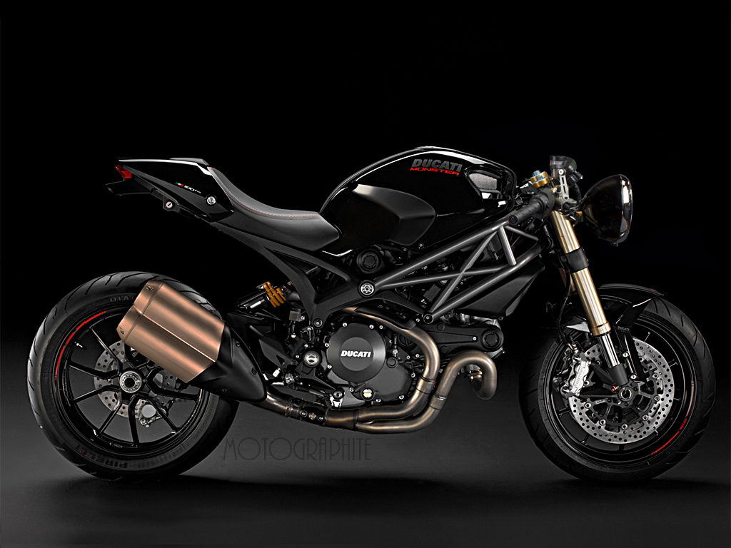 Ducati Monster Custom Exhaust