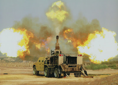 chinese sh2 type 122 mm howitzer vehicle on fire