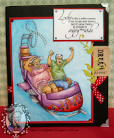 Card using the digital stamp Roller Coaster