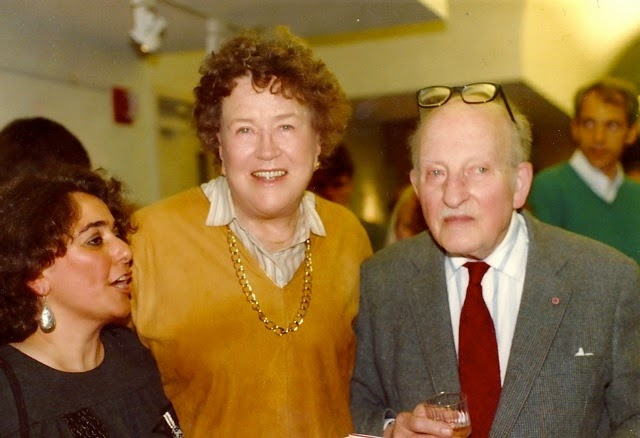 My mother, Catherine, with Julia and Paul Child at my mother's book party Schlessinger Library