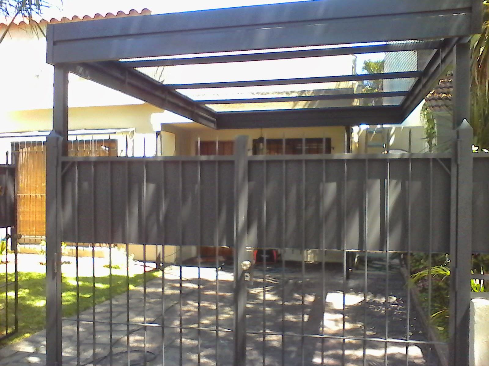 Servi 2000 herreria de obra techos para garage for Techos de policarbonato para garage