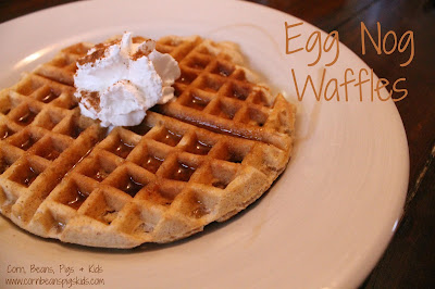 #AEdairy Egg Nog Waffles recipe #sponsored