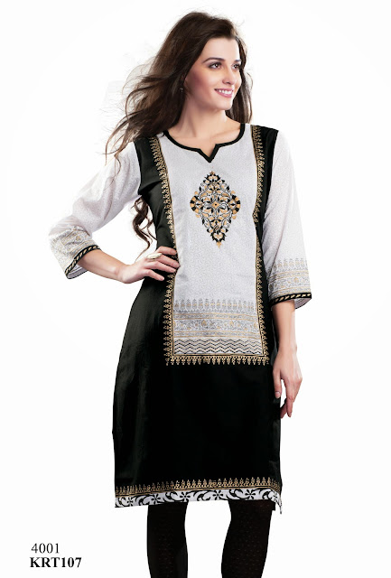 New Cotton Kurti With Beautiful Neck Pattern