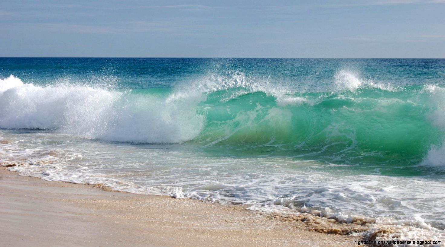 On Waves Beach Wallpap...