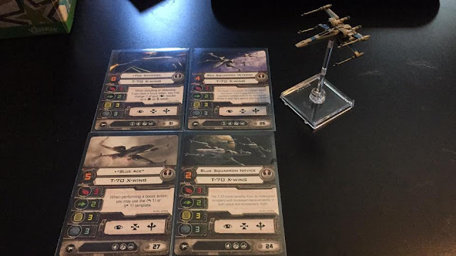 Star Wars X-Wing T-70 Pilot Cards