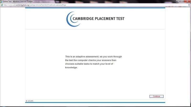 Cambridge placement test шкала - 7