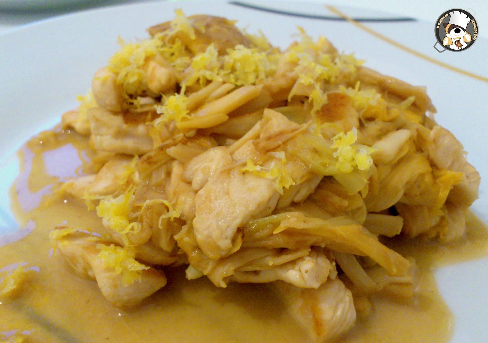 Recetas asi ticas pollo al lim n con flores de lirio la cocina del mapache feliz - Pollo al limon isasaweis ...